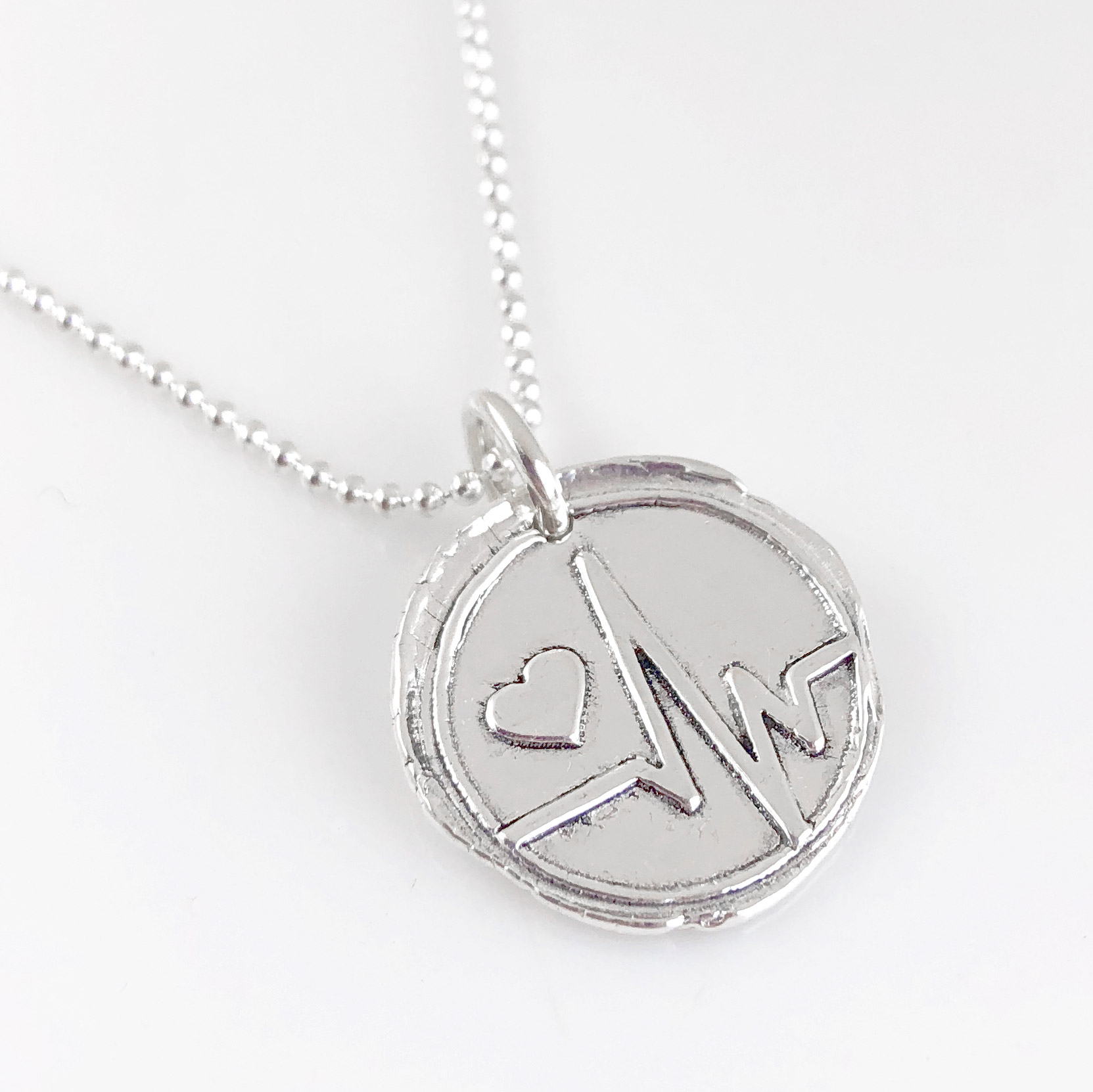 Heartbeat Wax Seal Necklace (Ready to Ship)