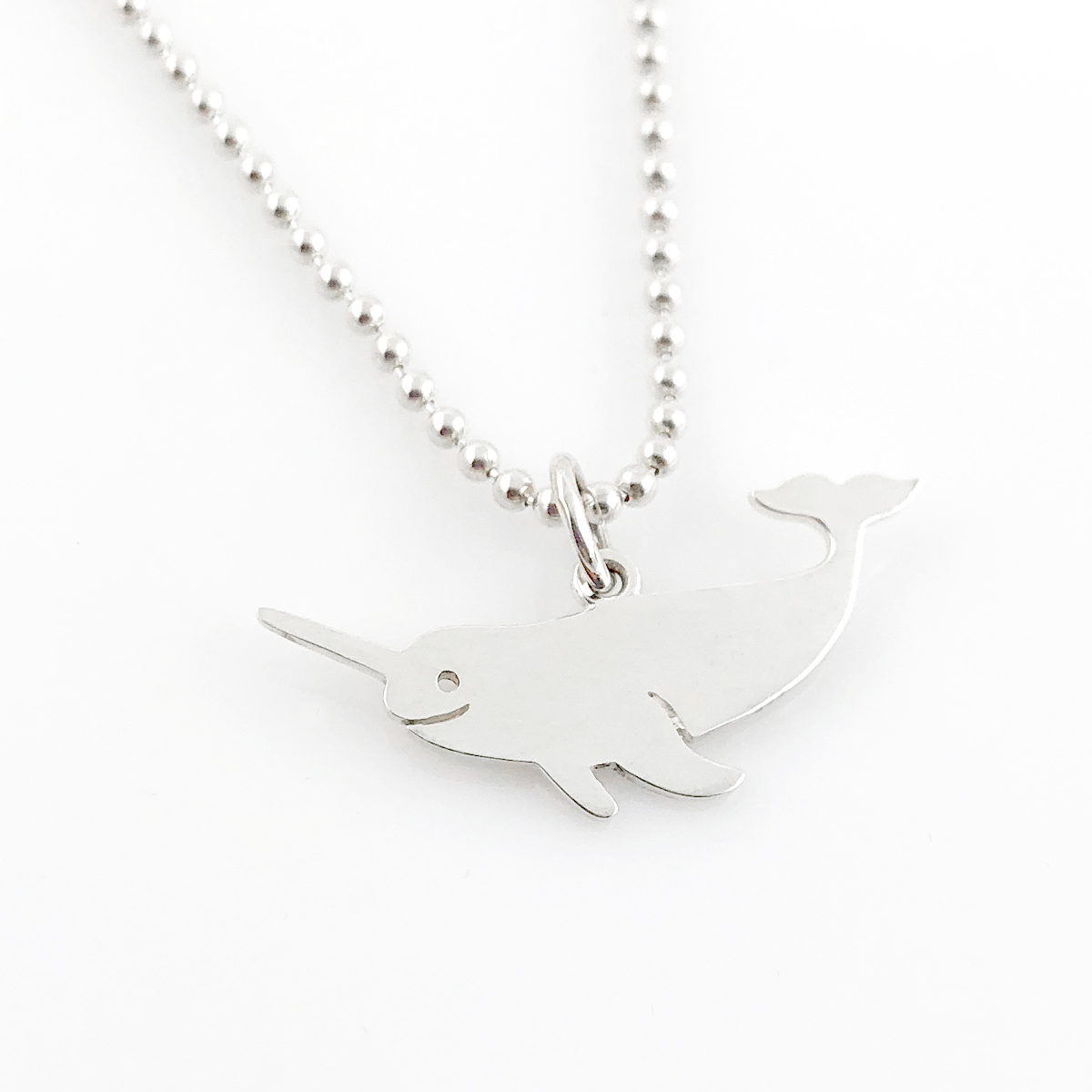 Narwhal Simple Charm Necklace (Ready to Ship)