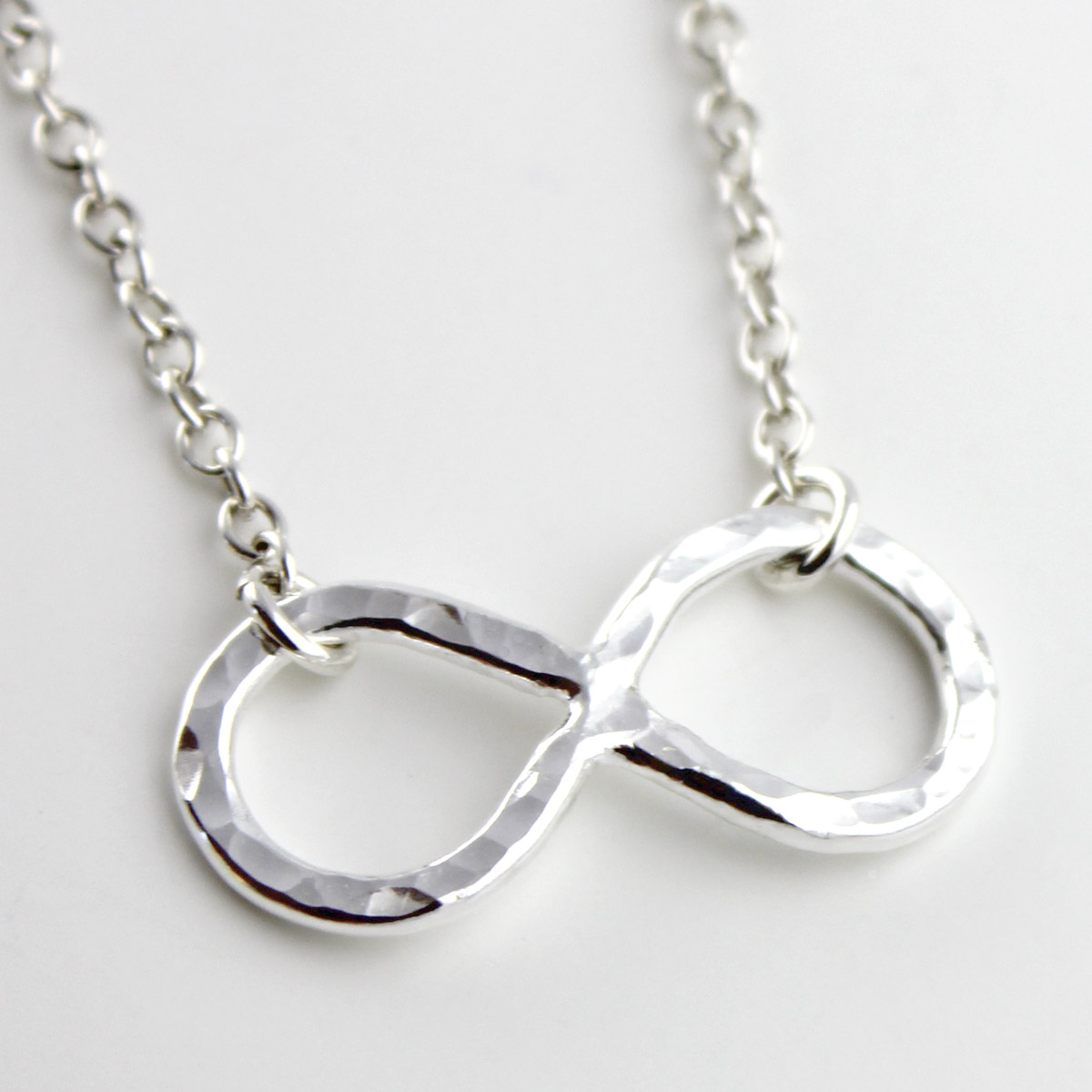 Infinity Symbol Fine Silver Necklace
