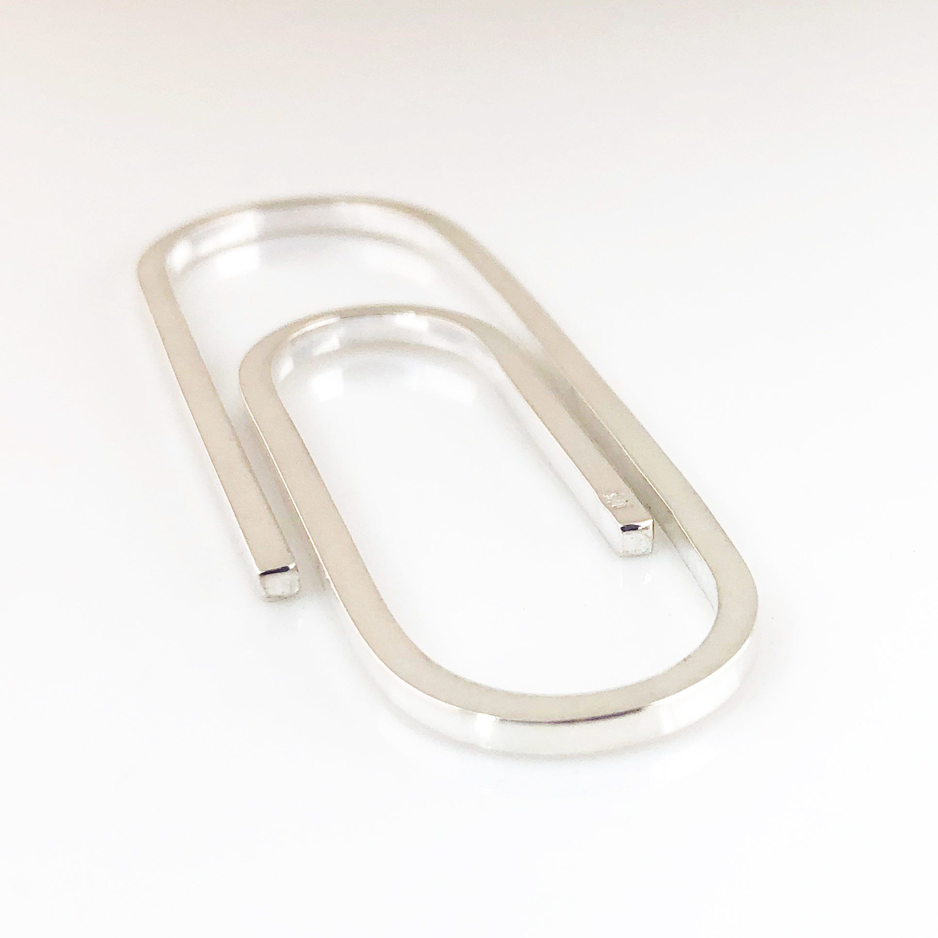 Paperclip Money Clip - Hand Forged Sterling Silver Money Clip