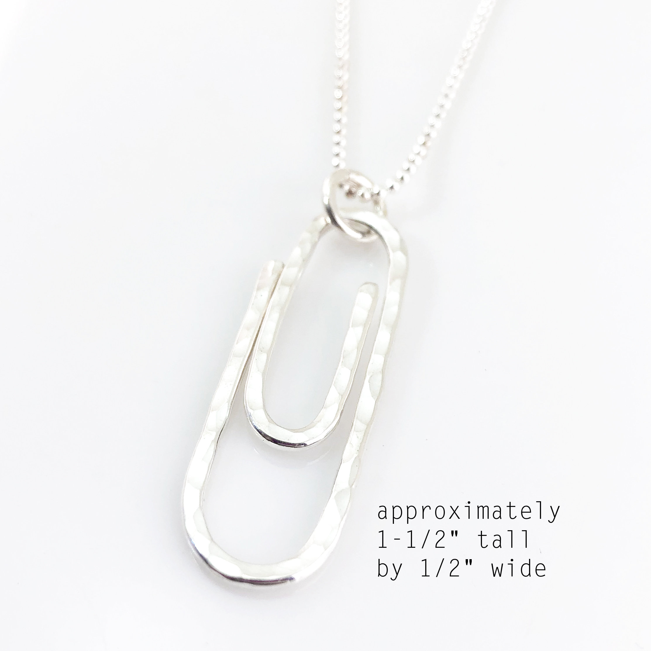Paperclip Necklace (Larger Size) / Sterling Silver
