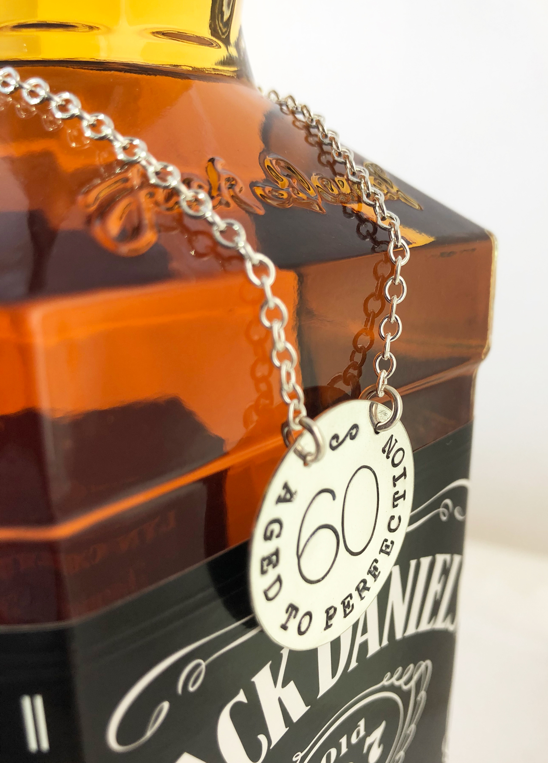 Personalized Decanter Label or Bottle Tag Aged to Perfection