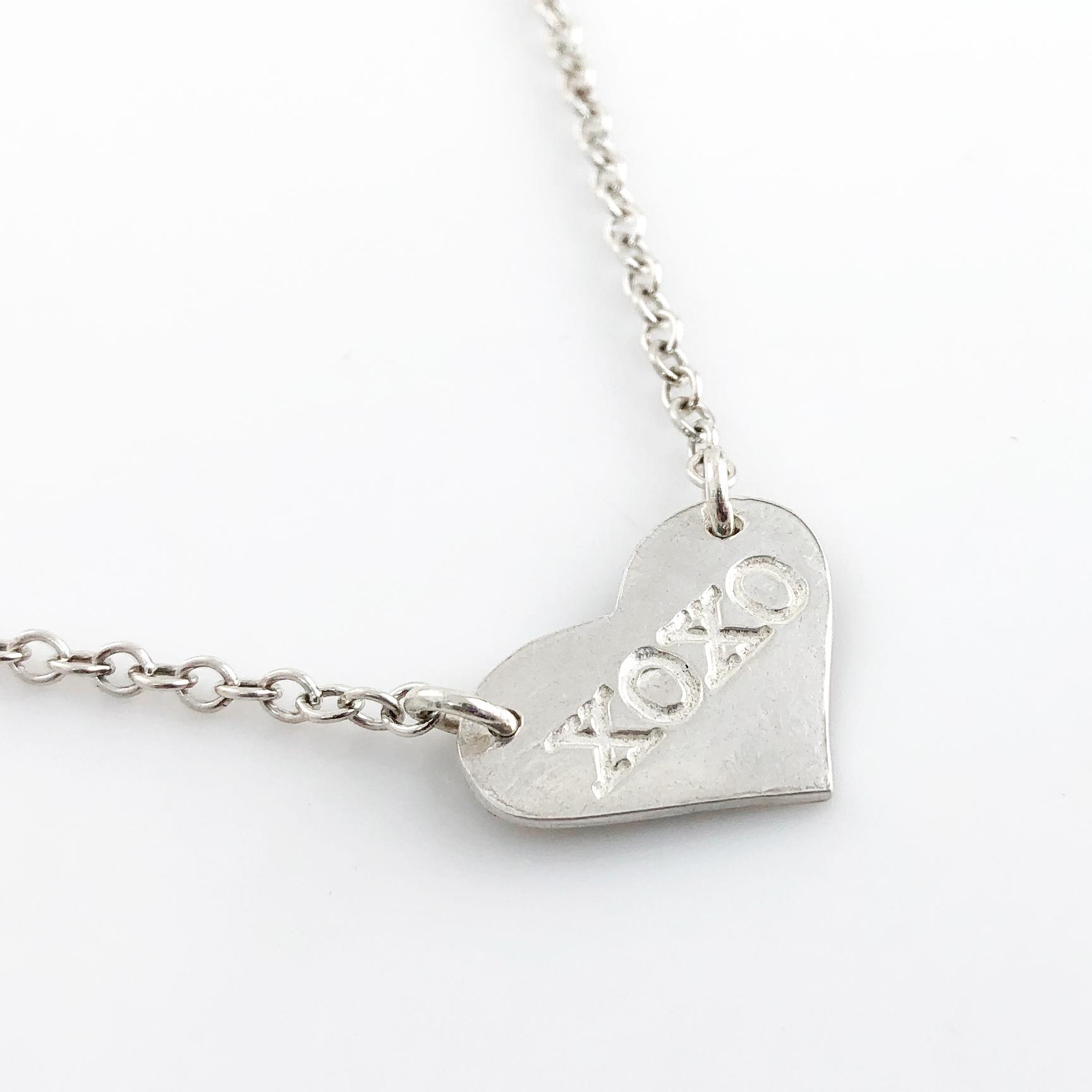 XOXO Fine Silver Heart Top Hang