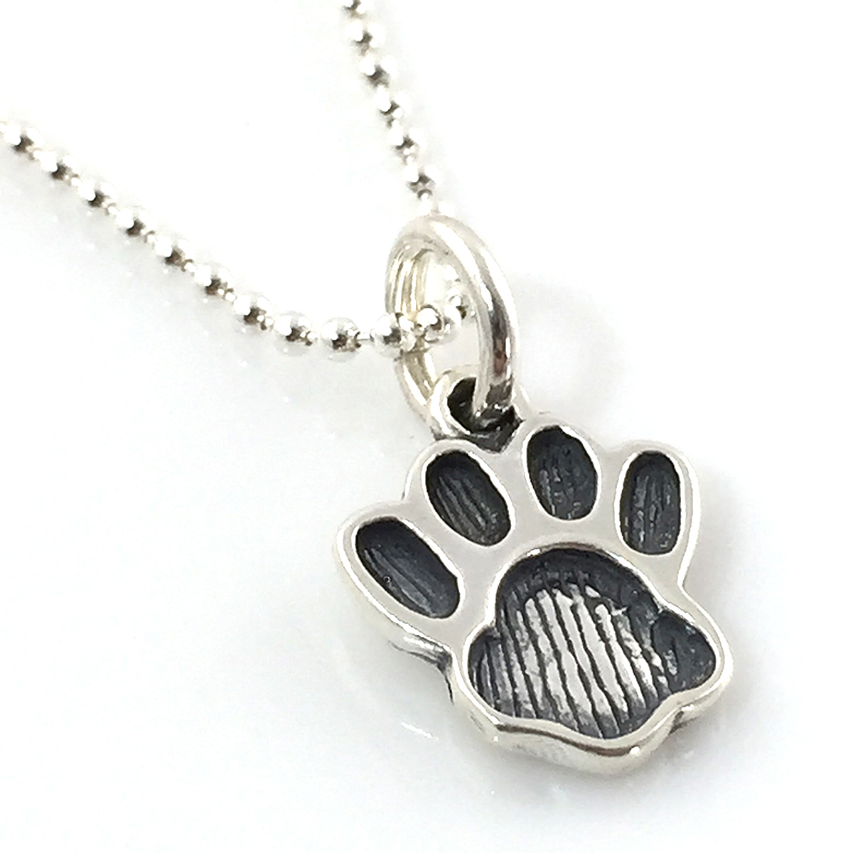 Paw Print Simple Charm Necklace