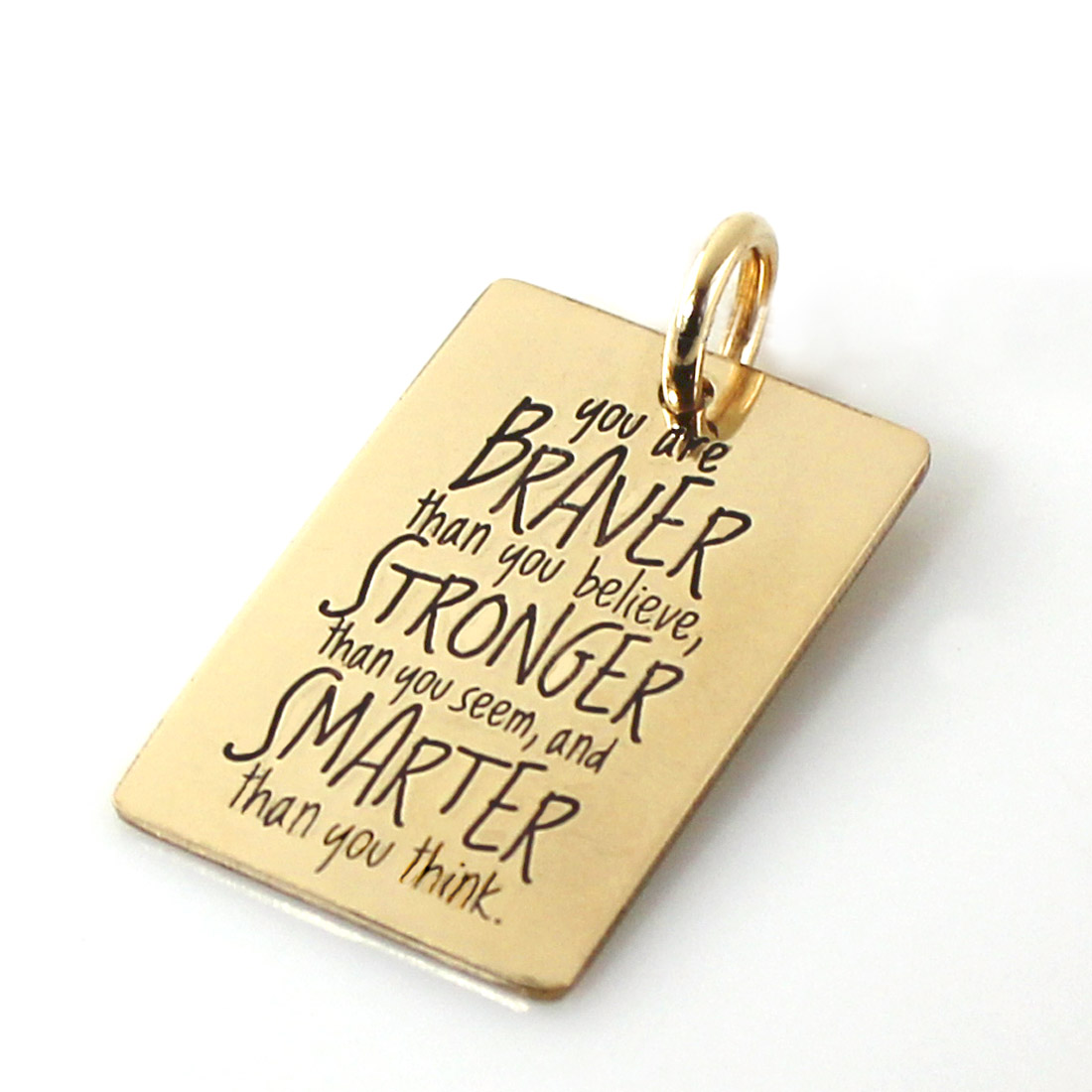 Add a 'You are Braver' Charm | Gold-Filled