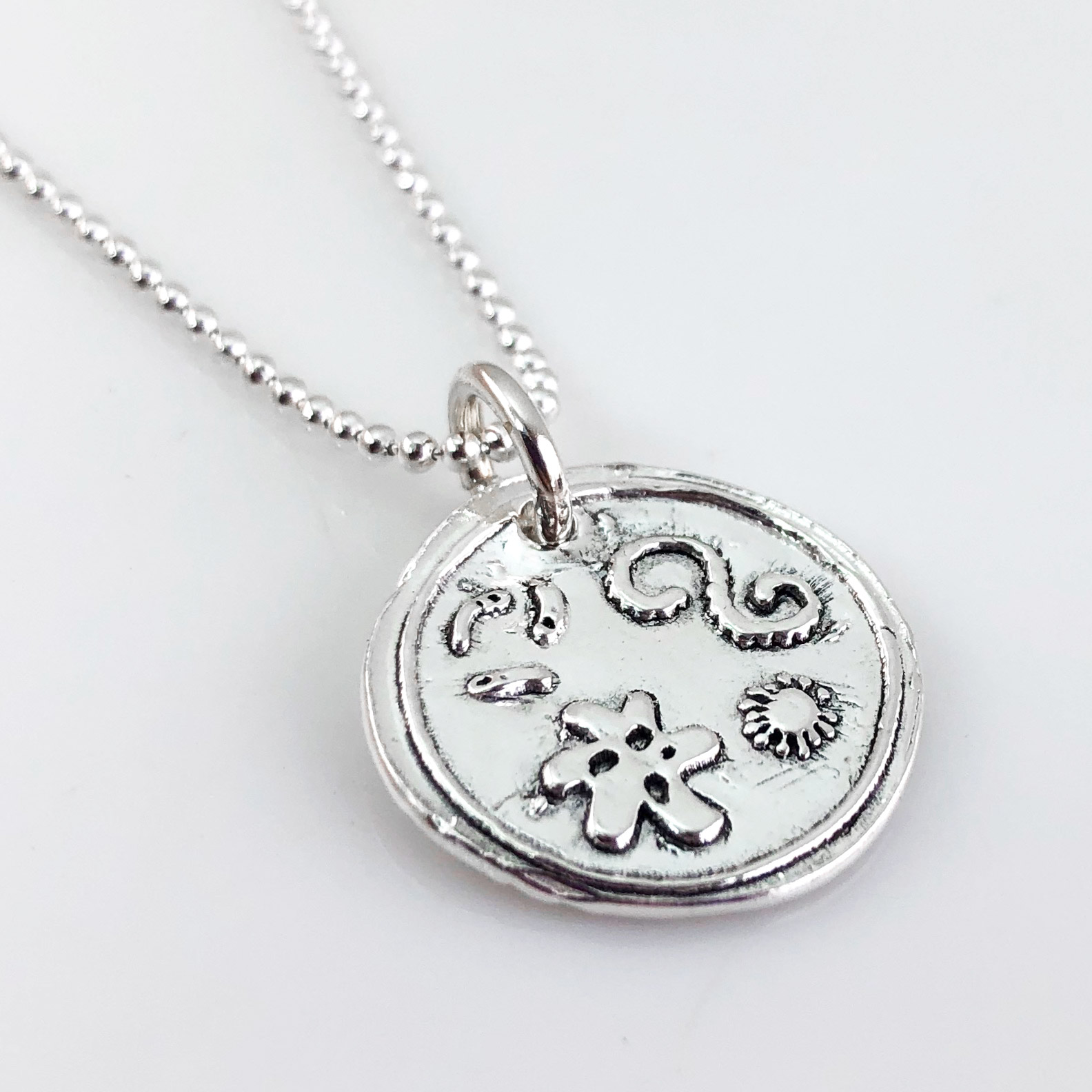 Petri Dish with Bacteria Wax Seal Necklace (Ready to Ship)