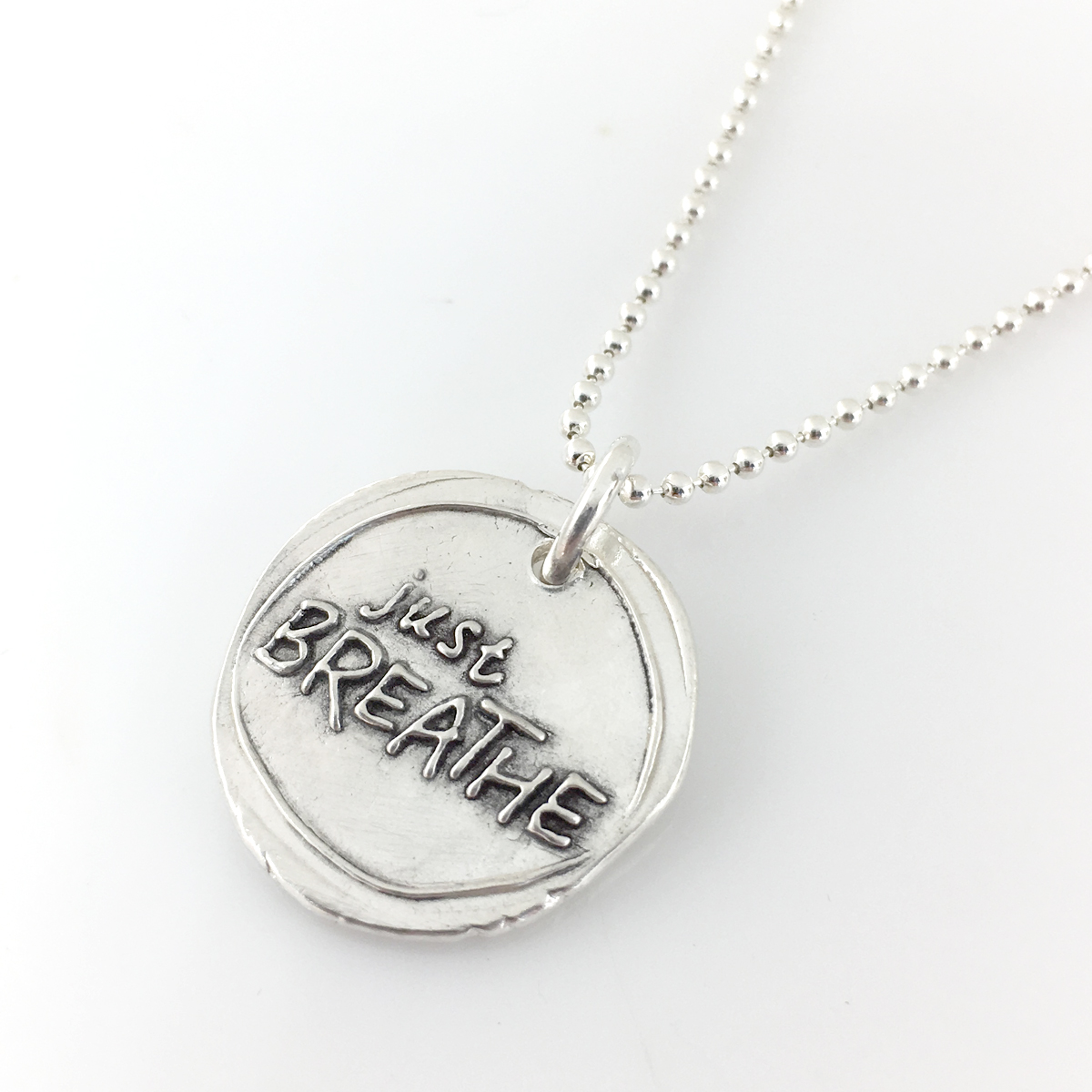 Just Breathe Wax Seal Inspired Necklace (Ready to Ship)
