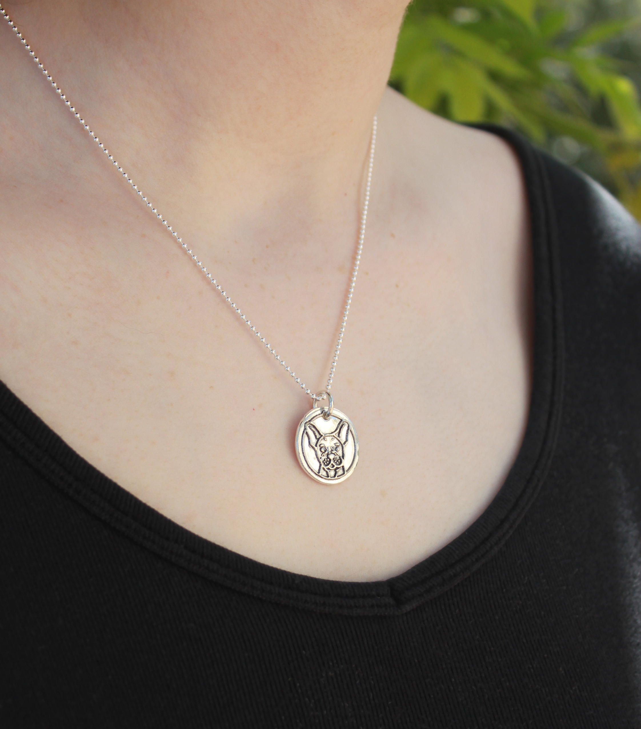 Dog Breed Wax Seal necklace on