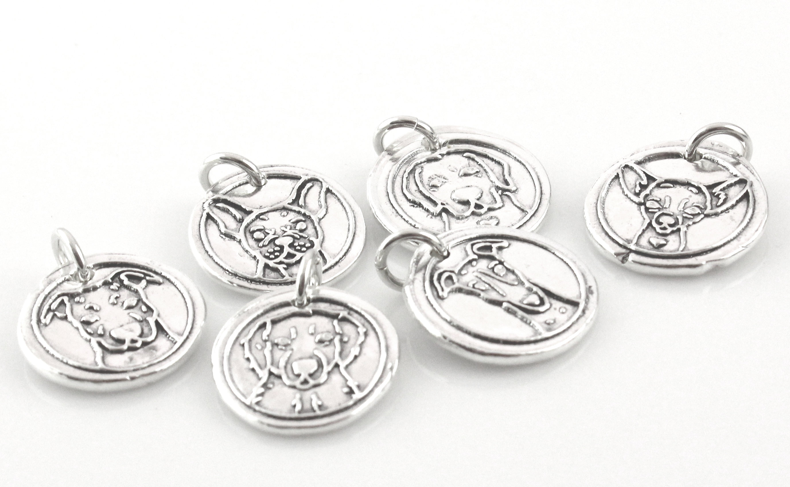 Dog Breed Necklace / Good Dog Wax Seal Inspired Necklace