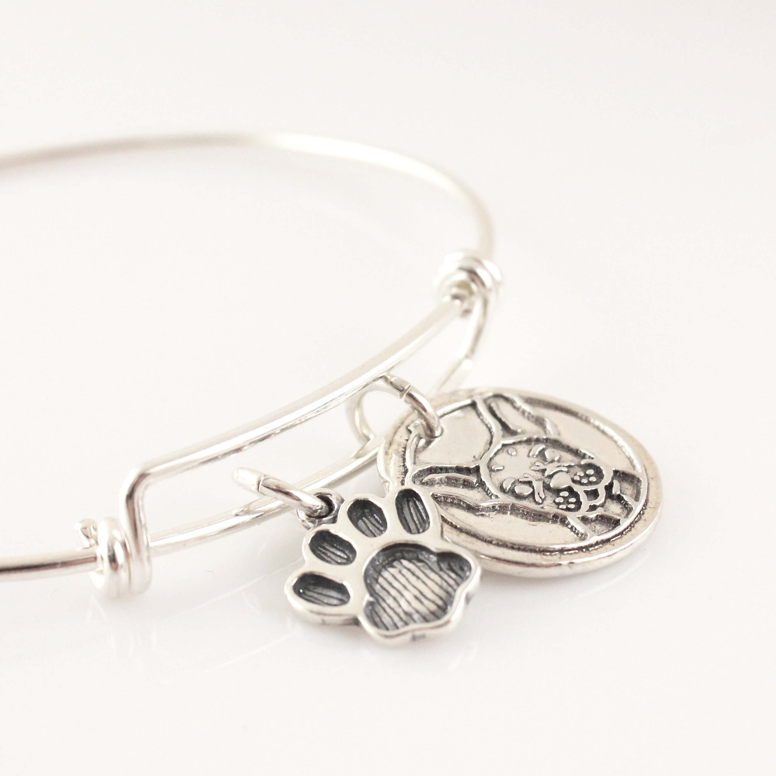 Dog Breed Bangle / Good Dog Wax Seal Inspired Bracelet - great to add charms to!