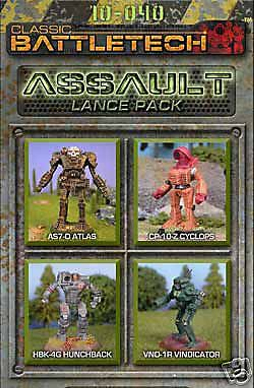 Battletech Assault Lance Pack 10-040 ADD'L ITEMS SHIP FREE
