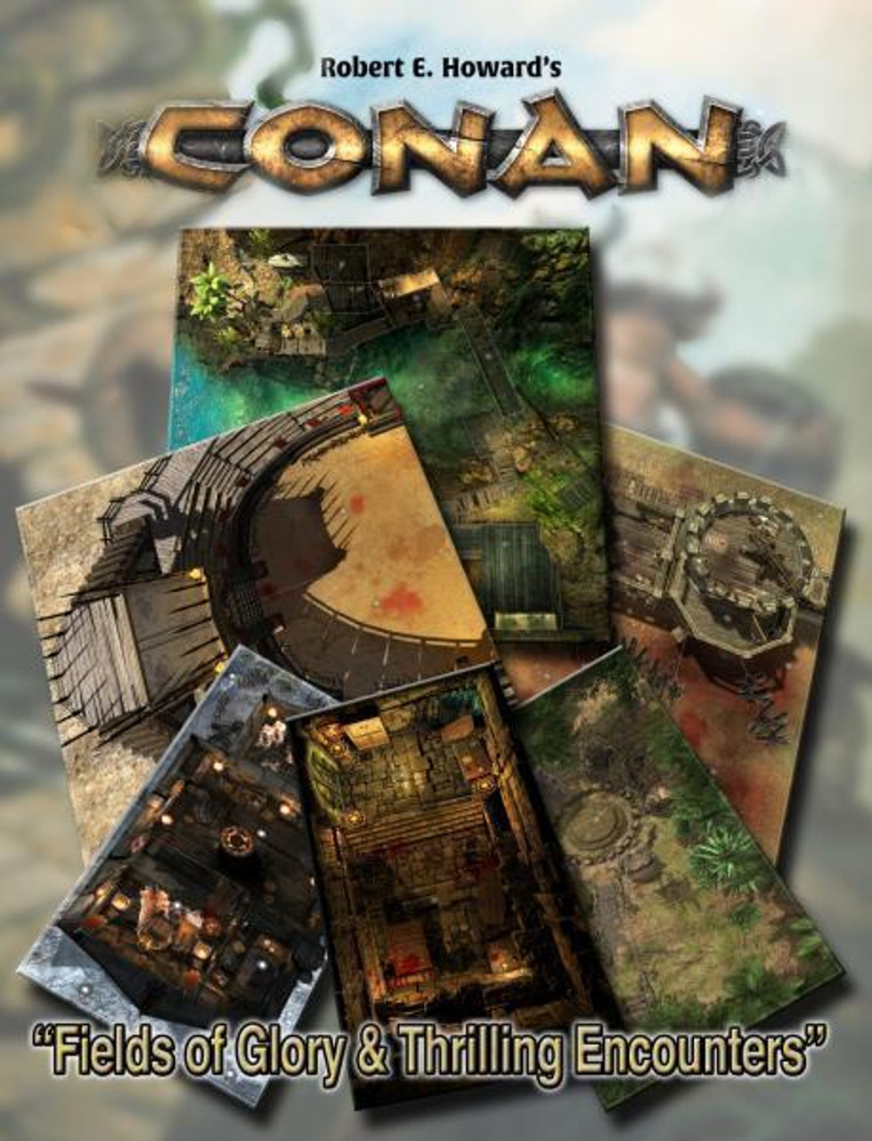 Conan RPG: Fields of Glory & Thrilling Encounters Geo. Tile Set ADD'L ITEMS SHIP FREE
