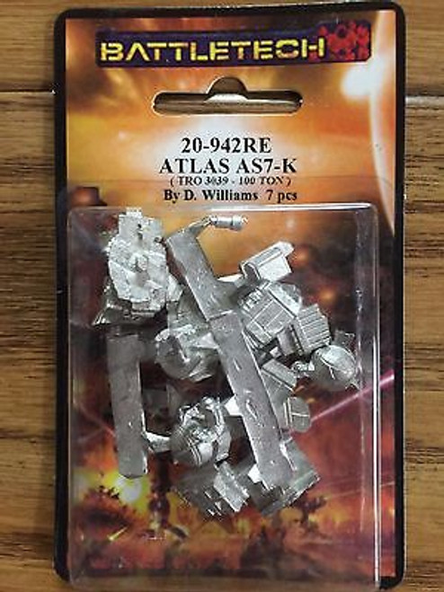 Battletech Atlas Mech Minuature 20-942RE ADD'L ITEMS SHIP FREE
