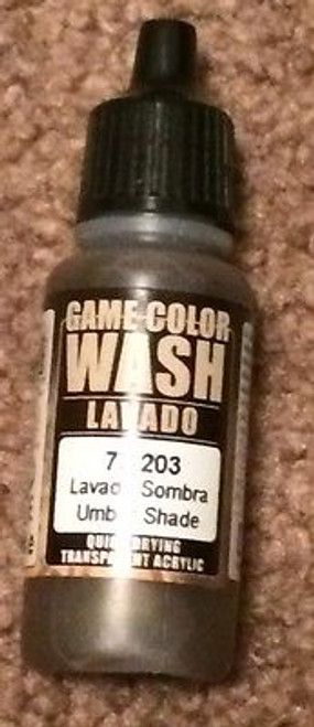 Vallejo Game Color Umber Wash 73203 ADD'L ITEMS SHIP FREE