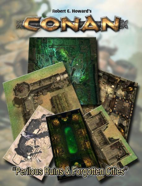 Conan RPG: Perilous Ruins & Forgotten Cities Geo. Tile Set ADD'L ITEMS SHIP FREE