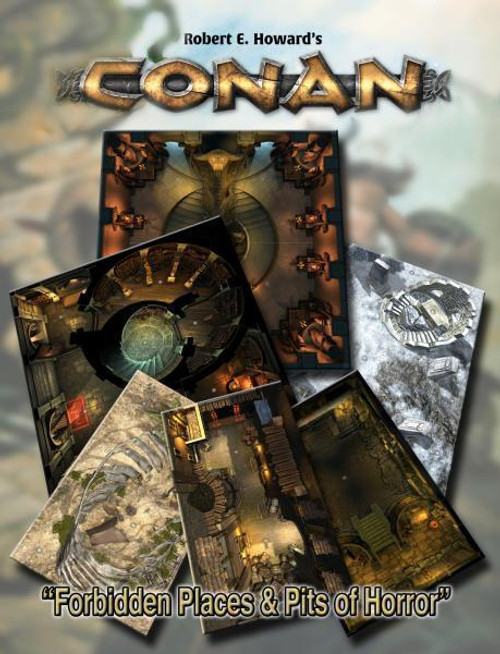 Conan RPG: Forbidden Places & Pits of Horror Geo. Tile Set ADD'L ITEMS SHIP FREE