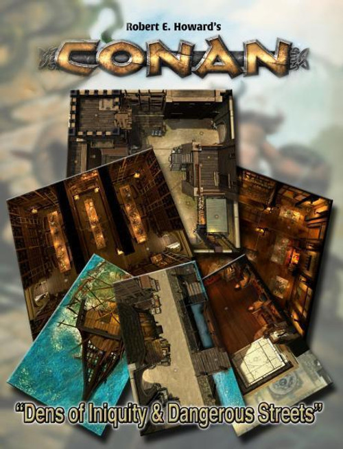 Conan RPG: Dens of Iniquity & Streets of Terror Geo. Tile Set ADD'L ITEMS SHIP FREE