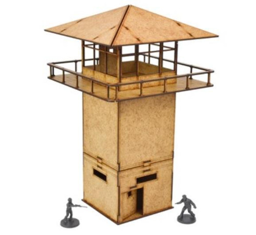 The Walking Dead: MDF Scenery Prison Tower ADD'L ITEMS SHIP FREE