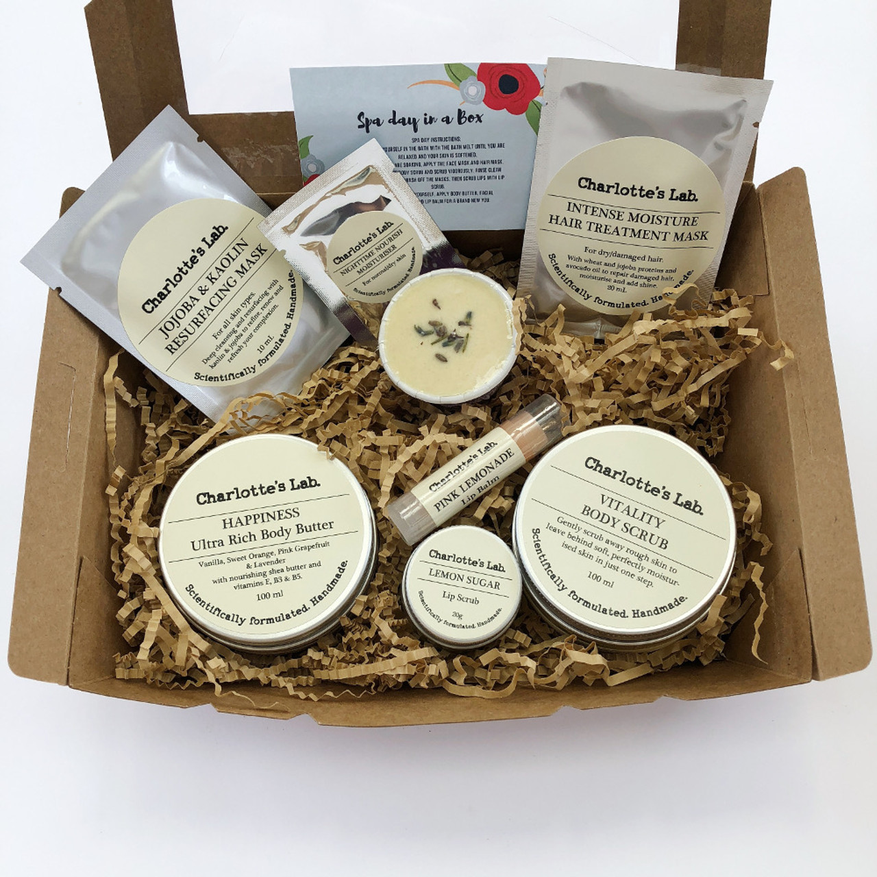 Spa Day In A Box Christmas Gift Pack By Charlotte S Lab