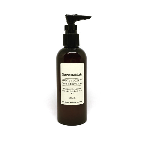 Gently Does It Hand and Body lotion for sensitive skin charlottes lab
