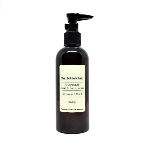 Happiness Hand and Body Lotion natural moisturiser Charlottes Lab