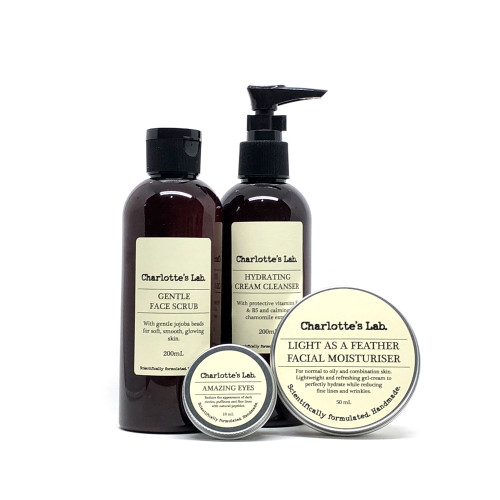 natural skincare set charlottes lab