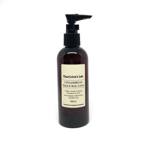 Christmas Gingerbread Body Lotion Charlotte's Lab