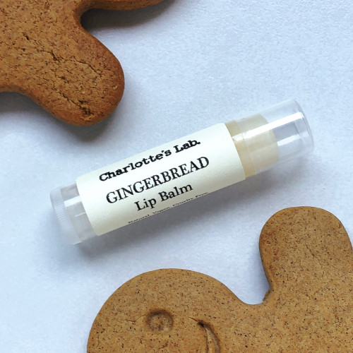 Christmas lip balm gingerbread natural