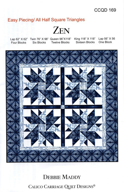 This Pattern make three sizes and is designed by Debbie Maddy. It is Fat Quarter Friendly.