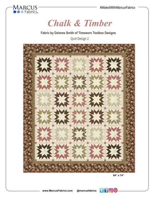 "Chalk & Timber Quilt Kit designed by Marcus Brothers Studio. Quilt is 64"" x 74"" finished."