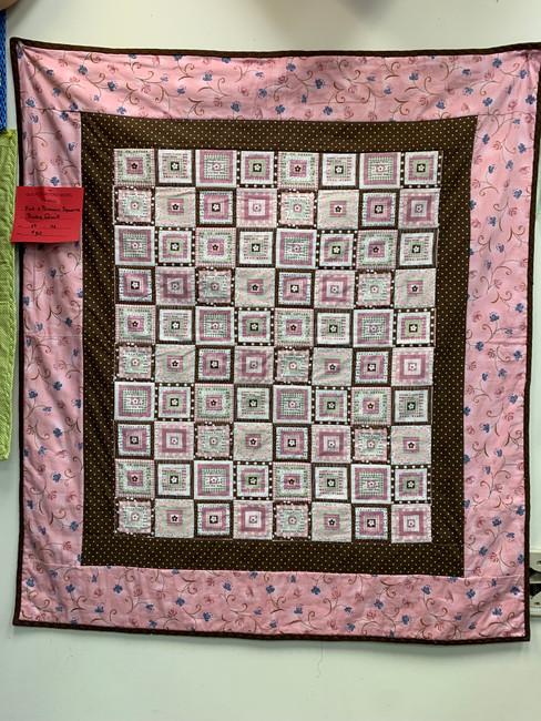 26x28 Pink & Brown baby quilt