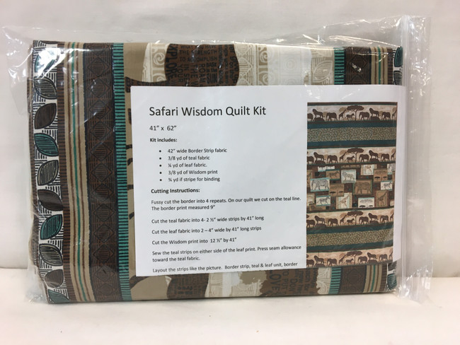 Fun with Border Stripes - Safari Wisdom Quilt Kit