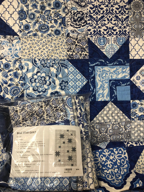 Blue Star Quilt Kit