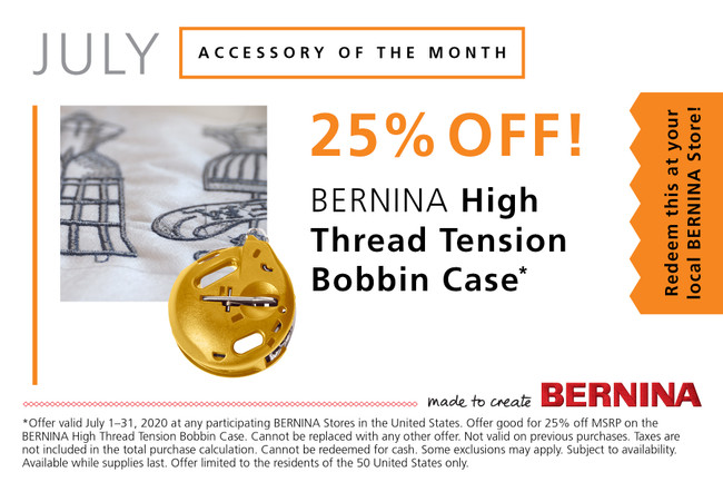 Bernina Accessory of the Month for July 2020