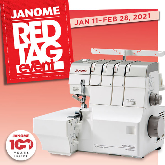 Janome Red Tag Event Through February 28, 2021!