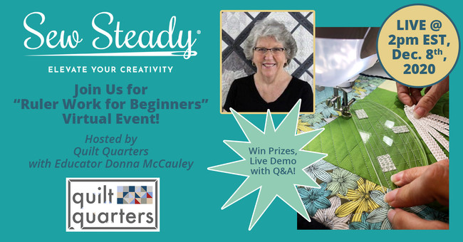 ​FREE Virtual Sew Steady Event on December 8th at 2:00 p.m. EST!