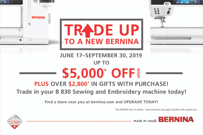 Trade Up To A New Bernina