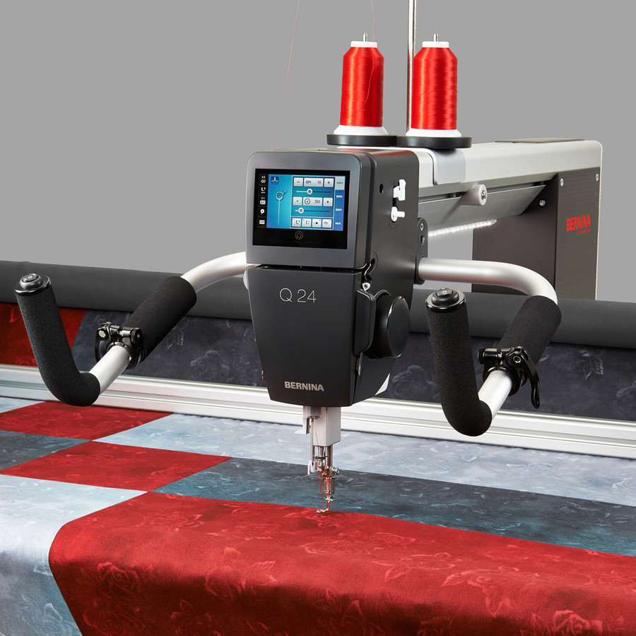 Bernina Q24 Professional Long Arm Quilting Machine On The Frame