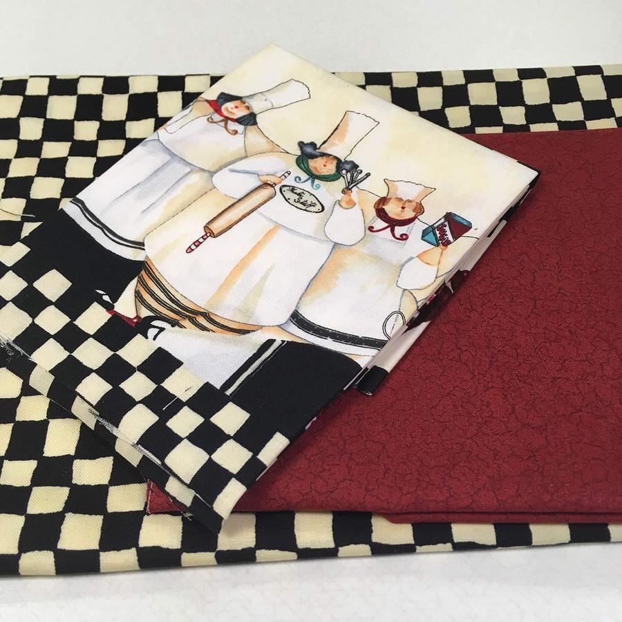 Baker's apron kit fabric