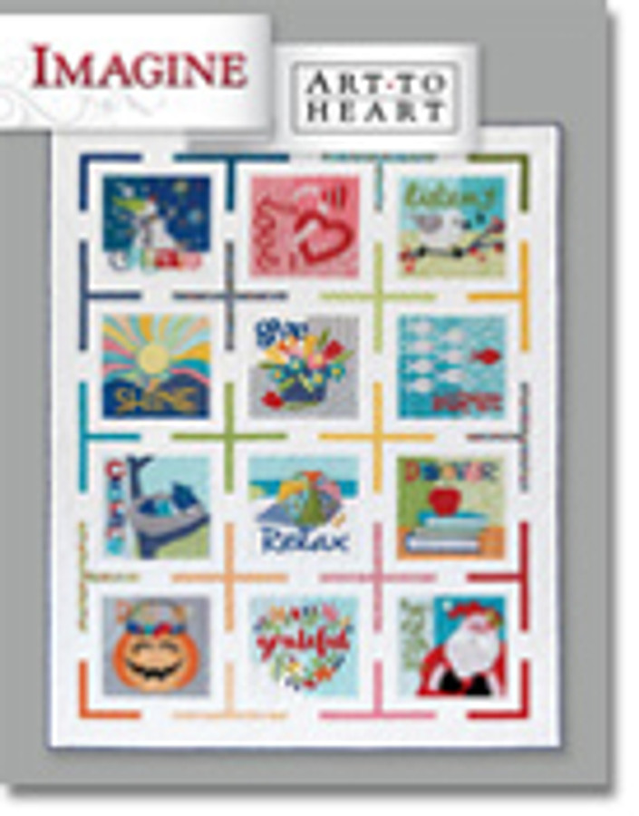 This fun Block-of-the-Month quilt celebrates positive and uplifting worlds for each month. Make the large quilt or celebrate each thought monthly with the individual mini quilts or pillows. You can also celebrate with these quick and easy holiday and seasonal banners.