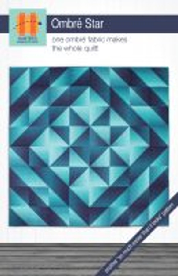 The color and value gradations in ombré fabrics make sophisticated color and shading transitions possible in simple blocks. In this quilt, the shading makes the star glow. This quilt can also make a spectacular base for appliqué.