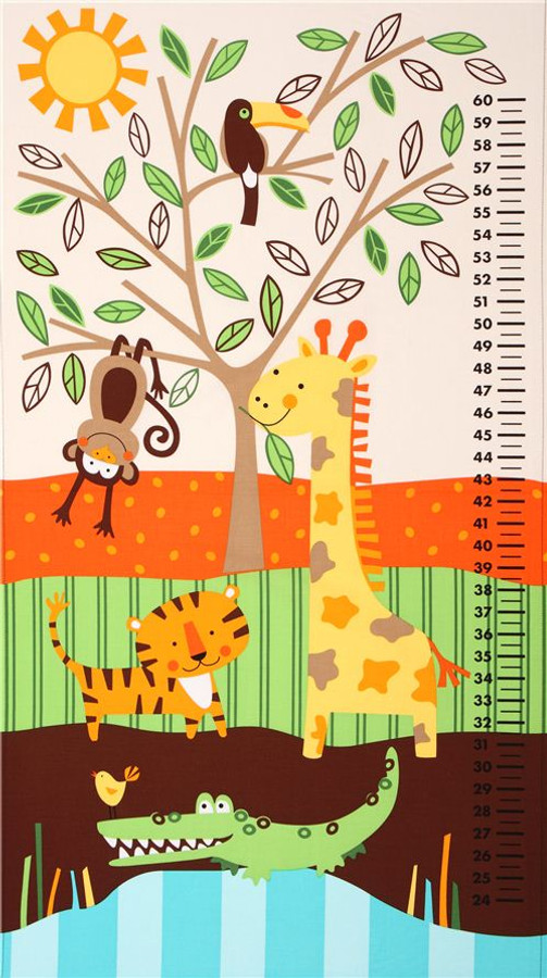 Animal Jungle Growth Chart By Timeless Treasures