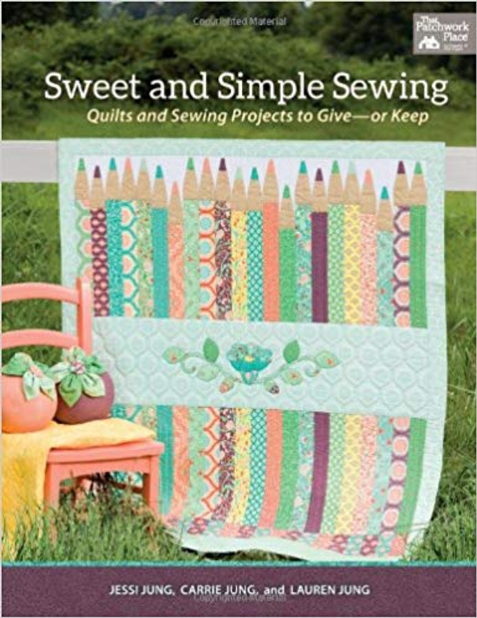 Discover a visually striking collection of sewing and quilting patterns featuring modern colors and clean designs. Create everything from quilts to luggage tags, a hand-bound journal, pleated clutch, makeup bag, and more.  Authors:  Jessi Jung, Carrie Jung, and Lauren Jung