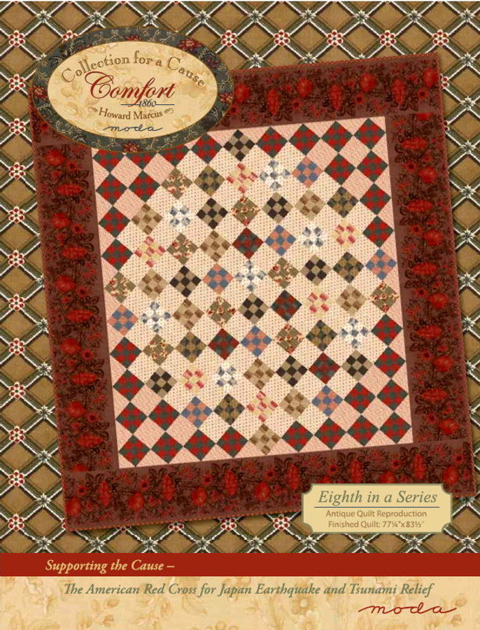 This Collection for a Cause - Comfort Quilt Kit by Howard Marcus includes everything you need for your quilt top and binding, and includes the Collection for a Cause - Comfort Quilt Pattern.