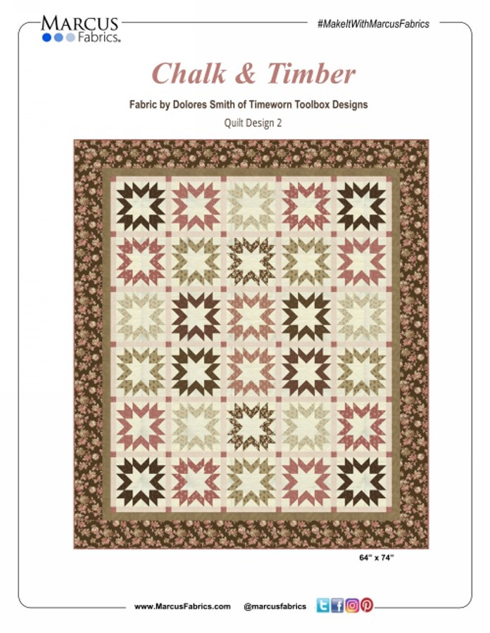"""Chalk & Timber Quilt Kit designed by Marcus Brothers Studio. Quilt is 64"""" x 74"""" finished."""