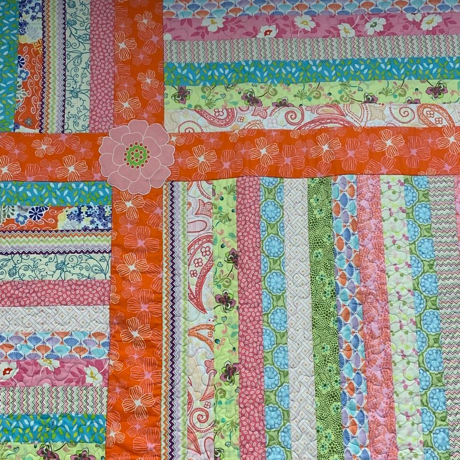 Flower Stripy Quilt
