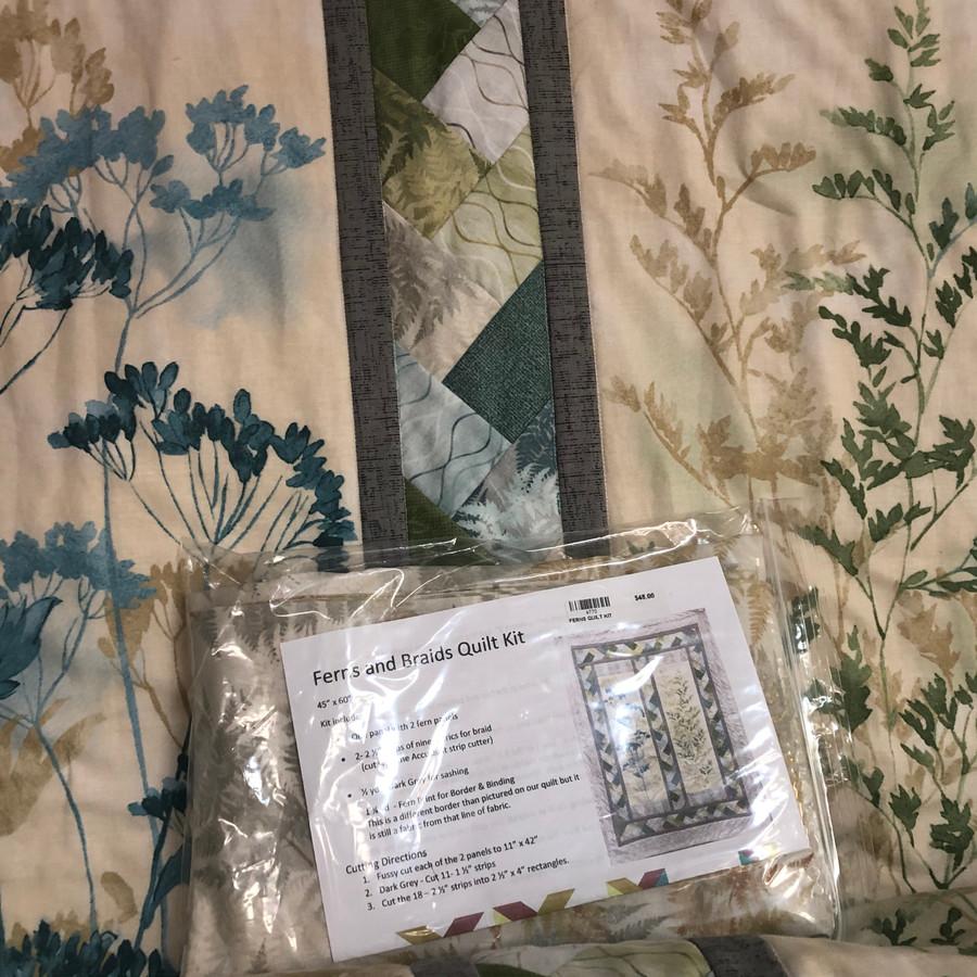 Ferns and Braids Quilt Kit