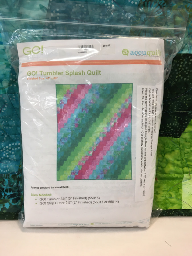GO! Tumbler Splash Quilt Kit