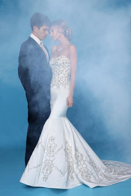 Impression Bridal Wedding Dress 10254 Ivory Silver Size 12 on Sale