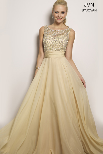 JVN by Jovani JVN24406 Champagne Size 10 on SALE